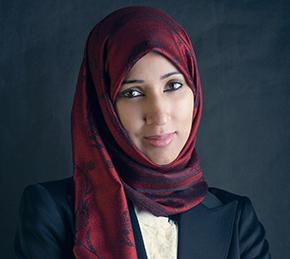 Woman wearing headscarf